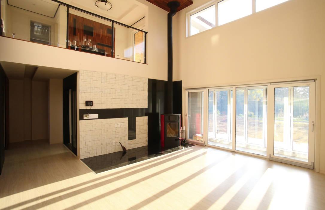 유천동 (Youcheondong) Salon moderne par HOUSE & BUILDER Moderne