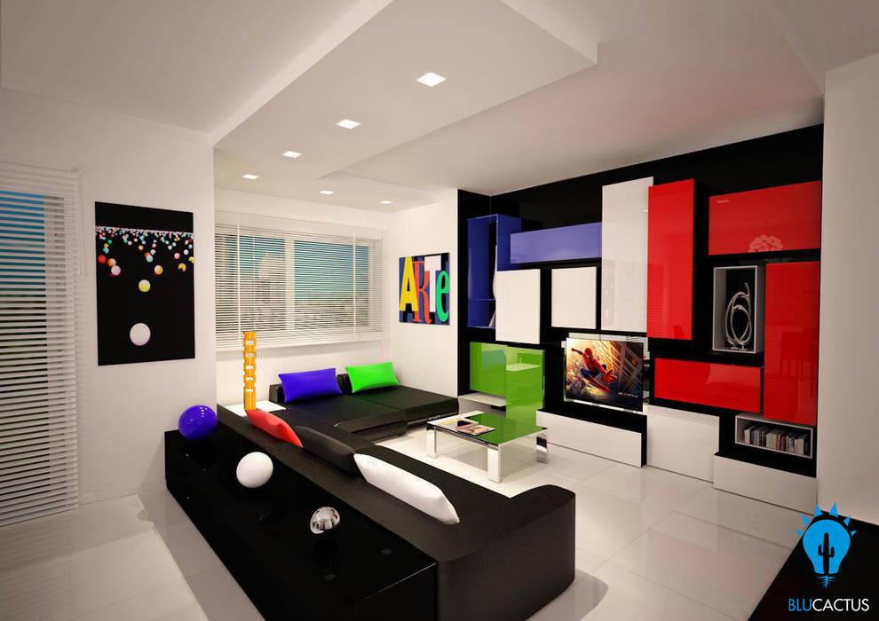AsTrAtTiSmO sTyLe: Soggiorno in stile in stile Moderno di blucactus design Studio