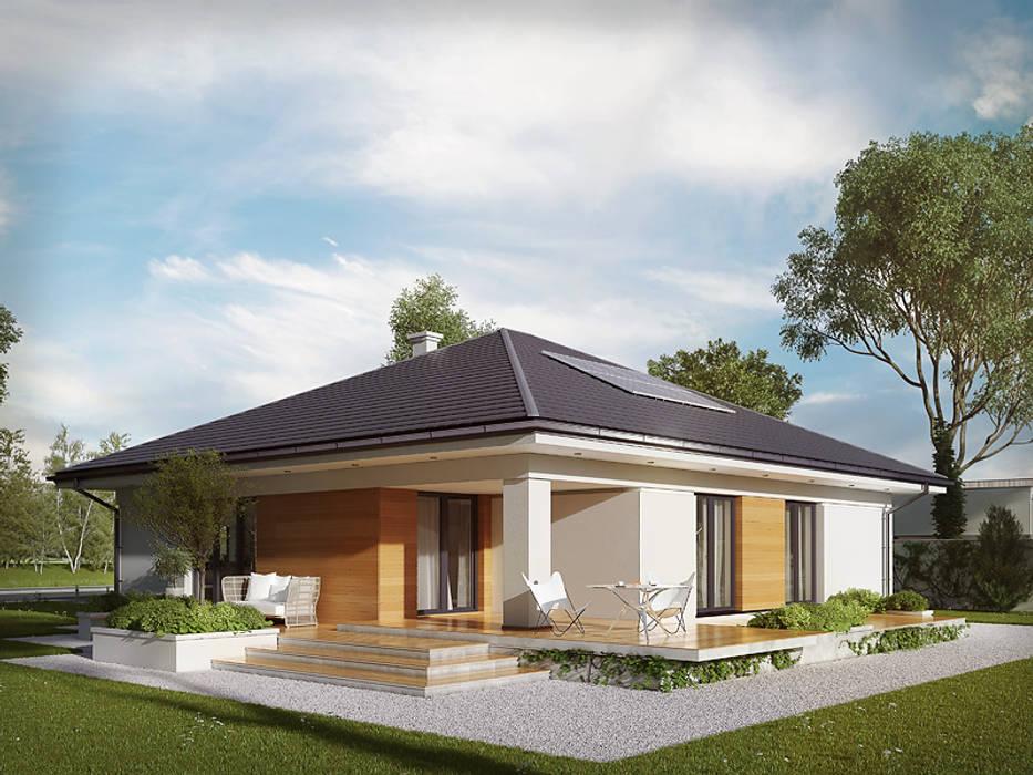 Wizualizacja projektu domu Ariel 4: styl , w kategorii Domy zaprojektowany przez Biuro Projektów MTM Styl - domywstylu.pl