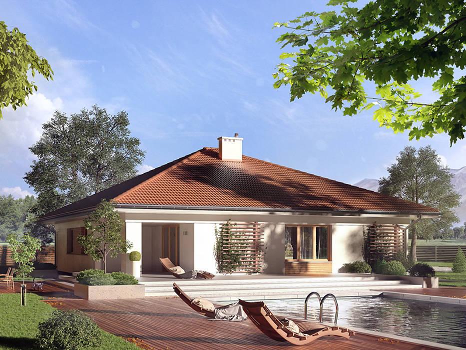 Wizualizacja projektu domu Decyma 6 homify Nowoczesne domy