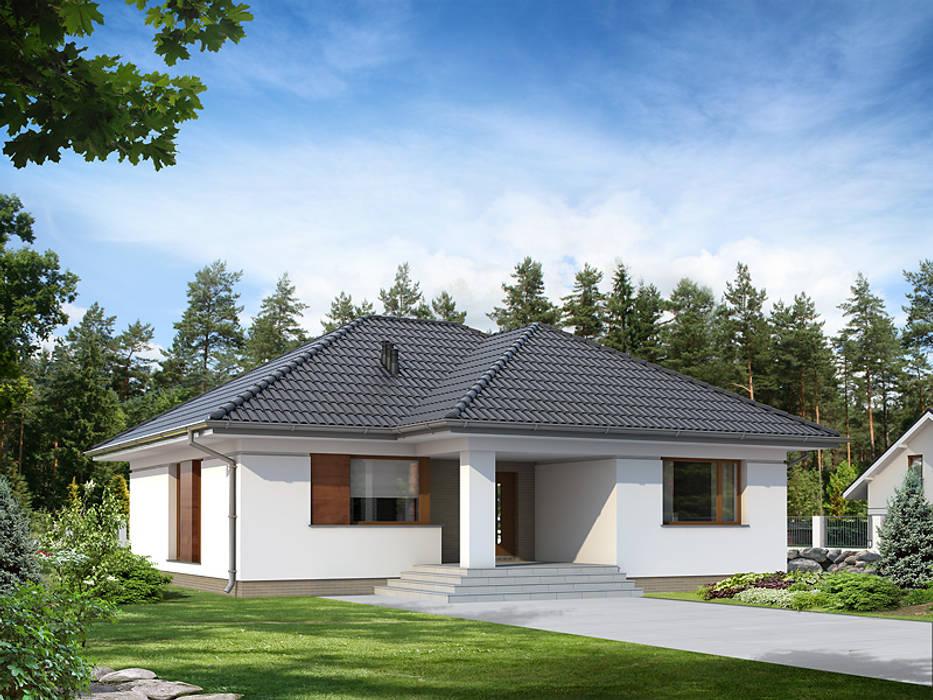 Wizualizacja projektu domu Umbra Nowoczesne domy od Biuro Projektów MTM Styl - domywstylu.pl Nowoczesny