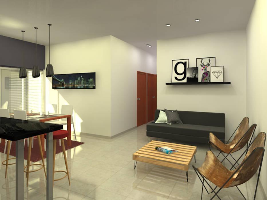 Living: Livings de estilo  por Arquitecto Ariel Ramírez
