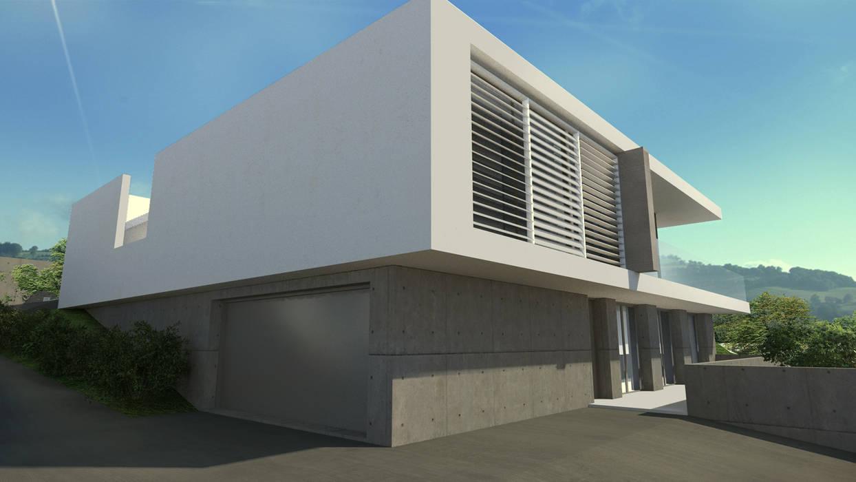 Maison moderne MA à Saint Cyr au Mont d'Or Maisons modernes par ARRIVETZ & BELLE Moderne
