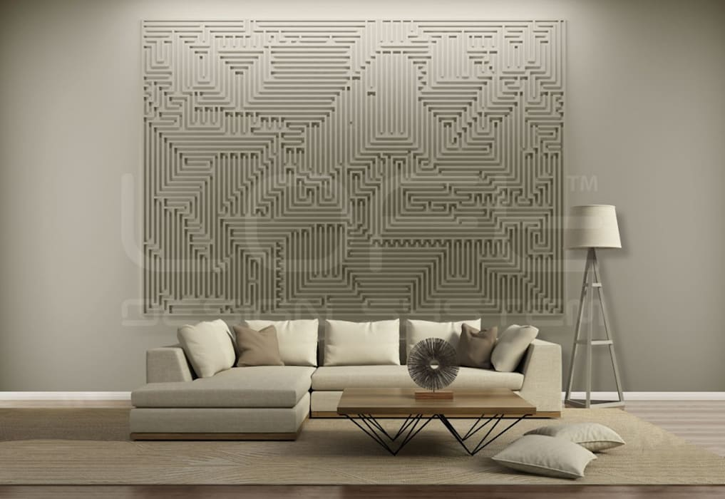 Schon 3d Wandpaneele   Großformat Modell ARCHETYPE: Moderne Wohnzimmer Von Homify