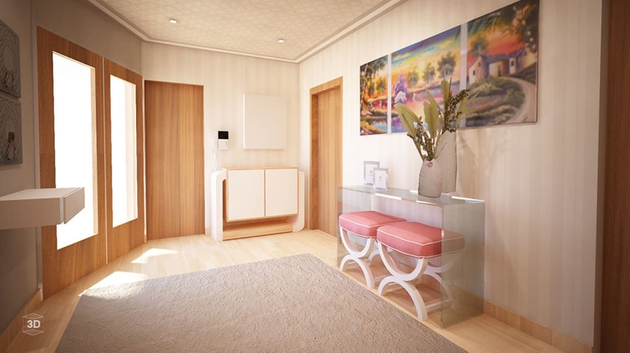 Pasillos, vestíbulos y escaleras de estilo moderno de GRAÇA Decoração de Interiores Moderno