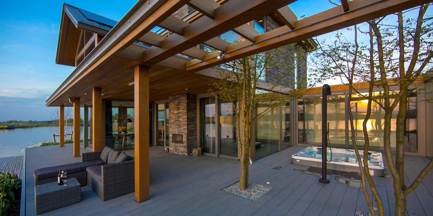Modern Terrace by DENOLDERVLEUGELS Architects & Associates Modern