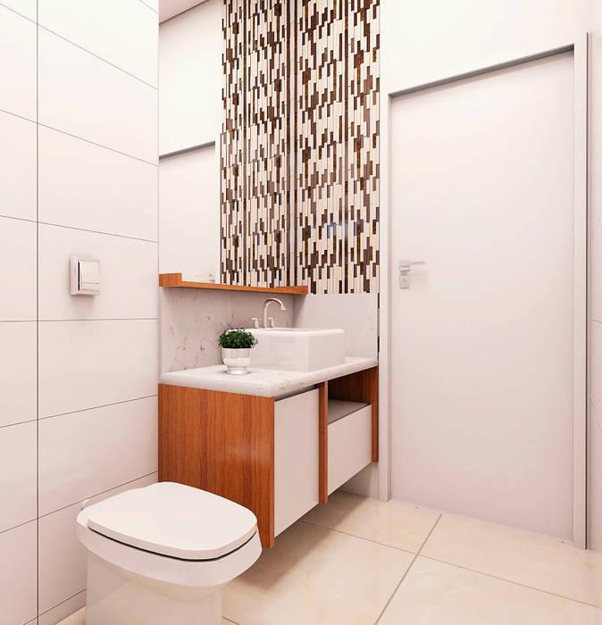 Banheiro Social Adegas modernas por Lozí - Projeto e Obra Moderno
