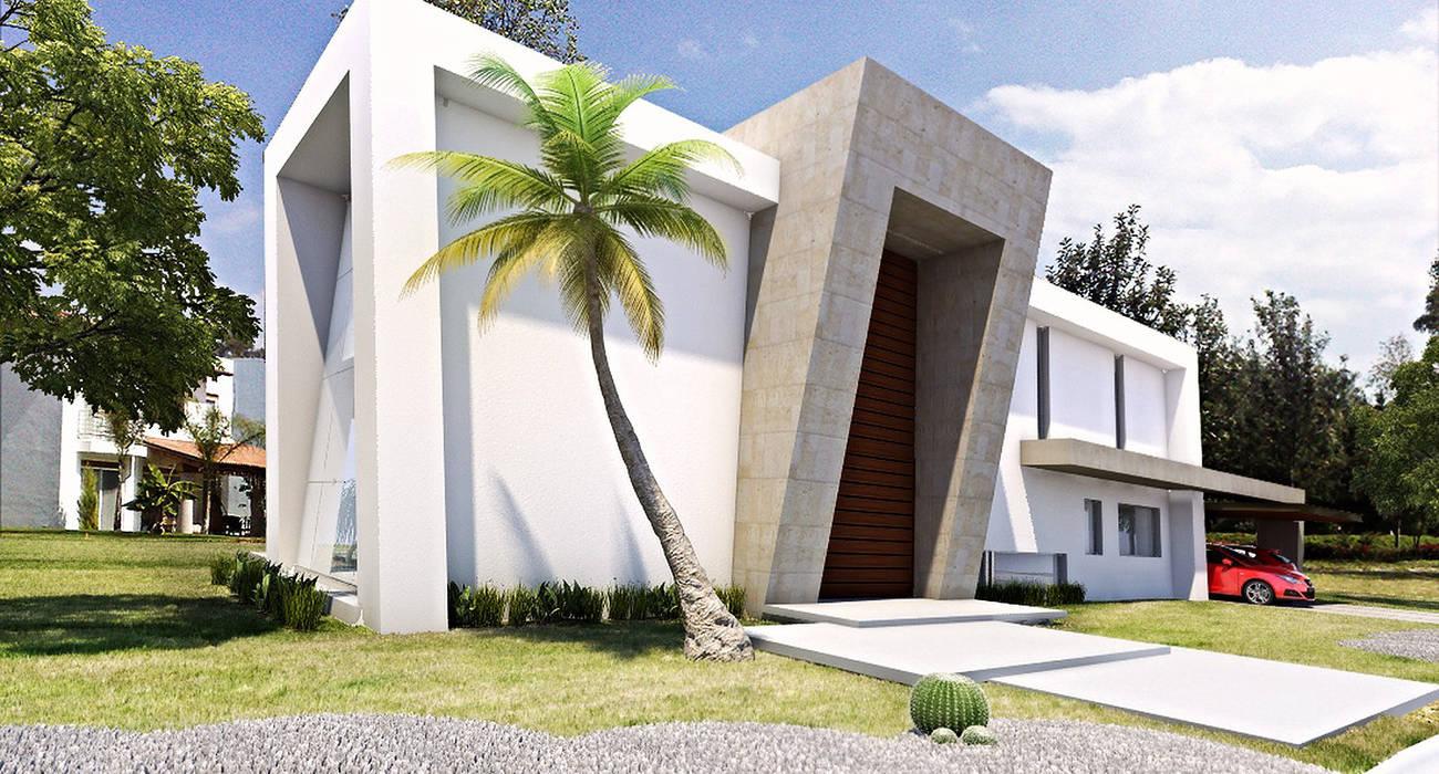 Casas de estilo  de AParquitectos, Moderno Piedra