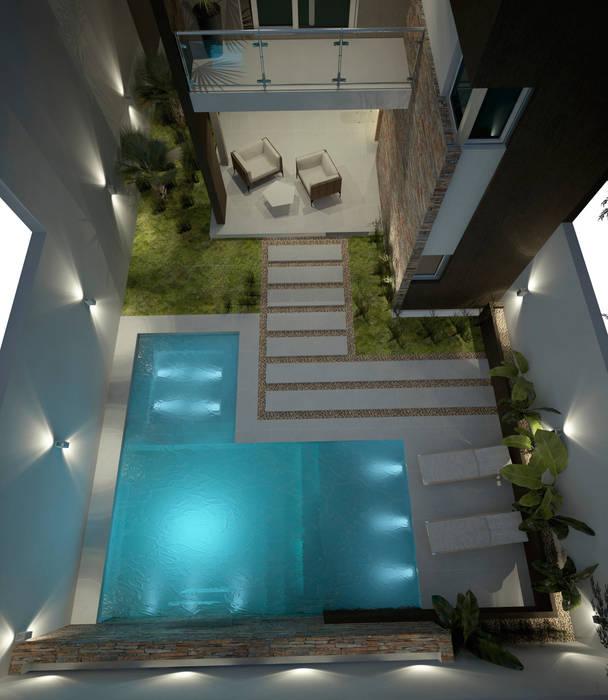 Dise o de patios peque os con piscina piletas de estilo for Piscinas desmontables para patios pequenos