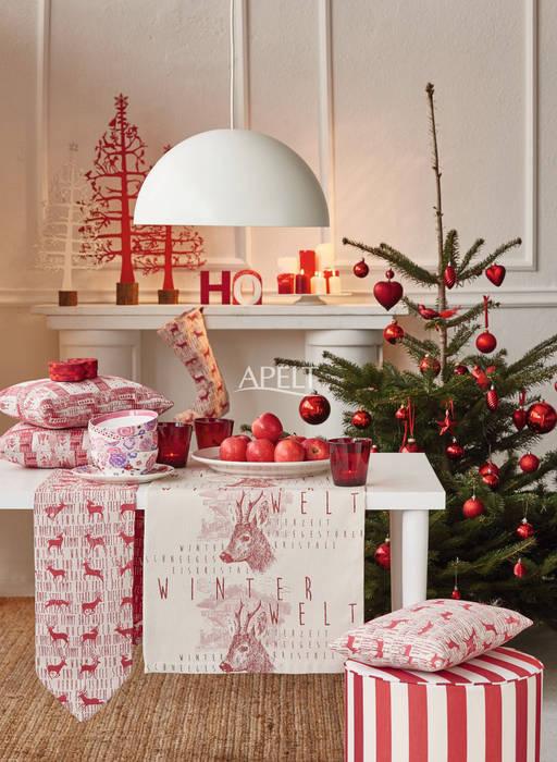 Christmas rot-weiß mit hirschmotiv: moderne wohnzimmer von homify ...