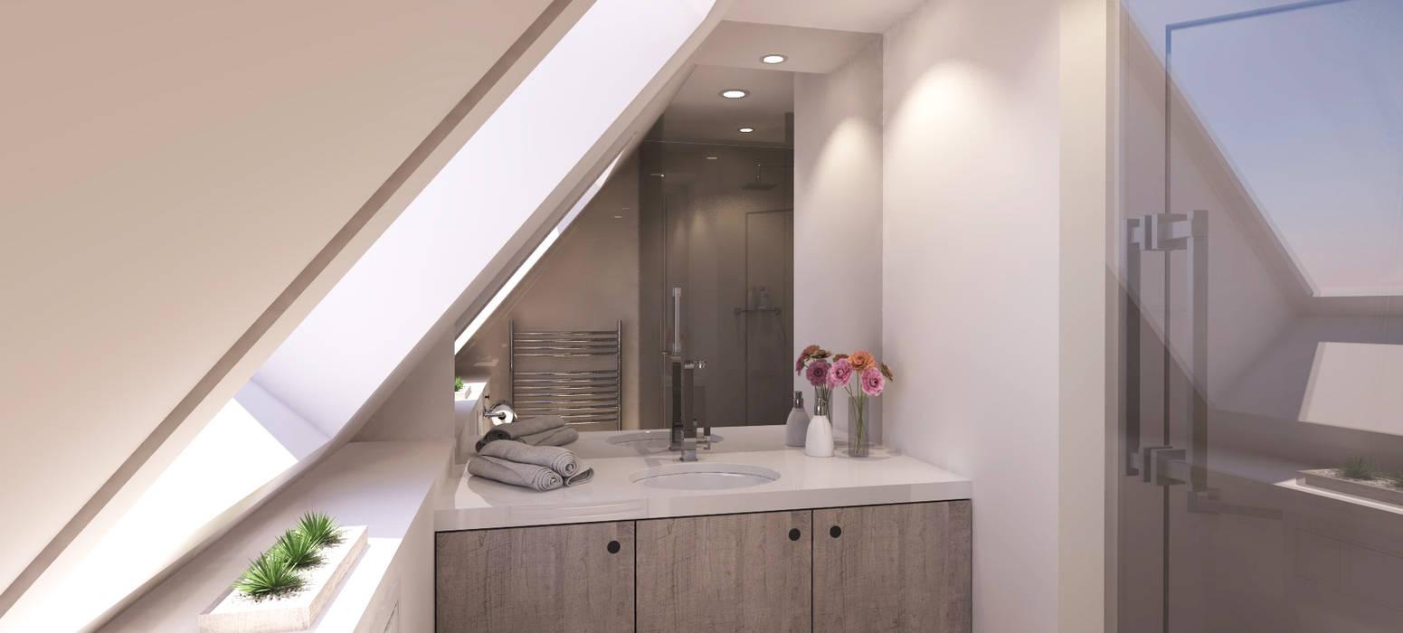 Badkamer: modern  door AD MORE design, Modern Hout Hout