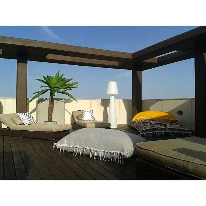 PROJETO DE DECORAÇÃO Varandas, marquises e terraços mediterrânicos por all Design [Arquitectura e Design de Interiores] Mediterrânico