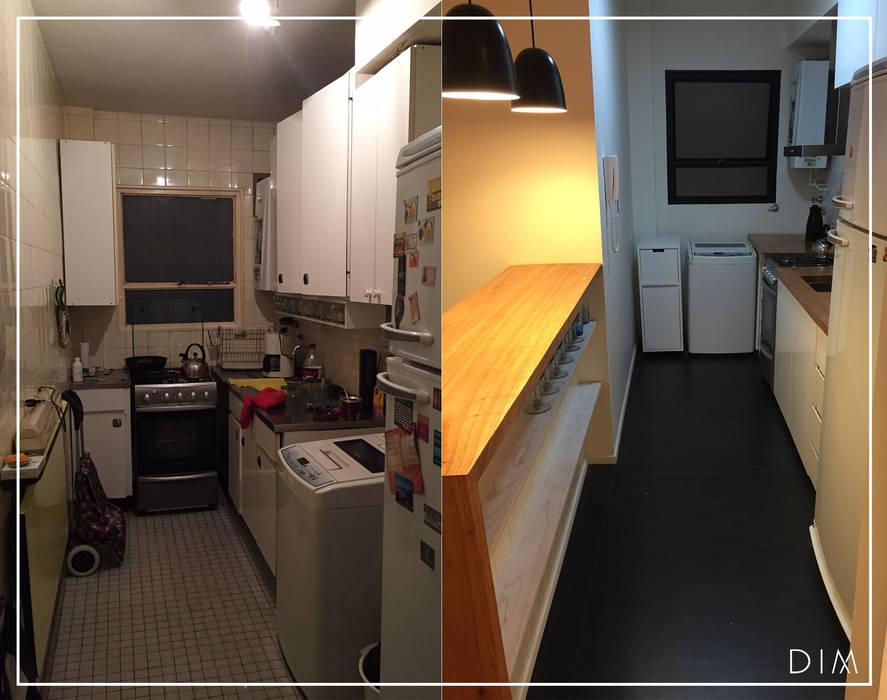 DIM Arquitectura Cucina minimalista Legno Bianco