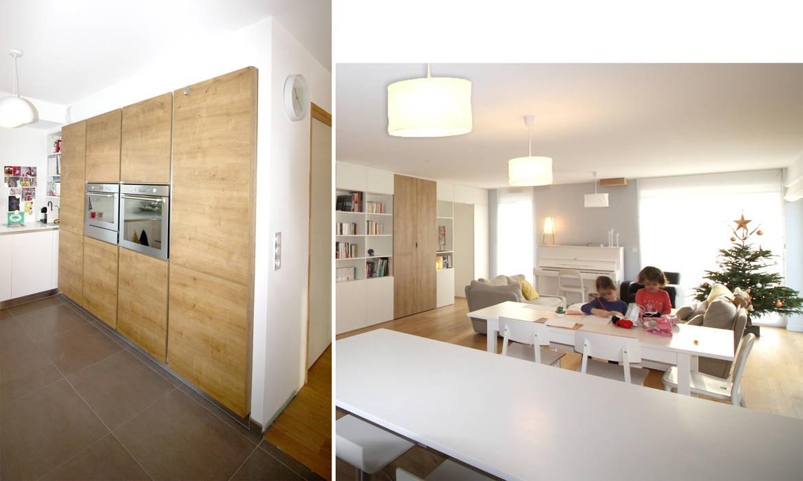Rdc maison neuve cuisine minimaliste par boddaert interieur ...