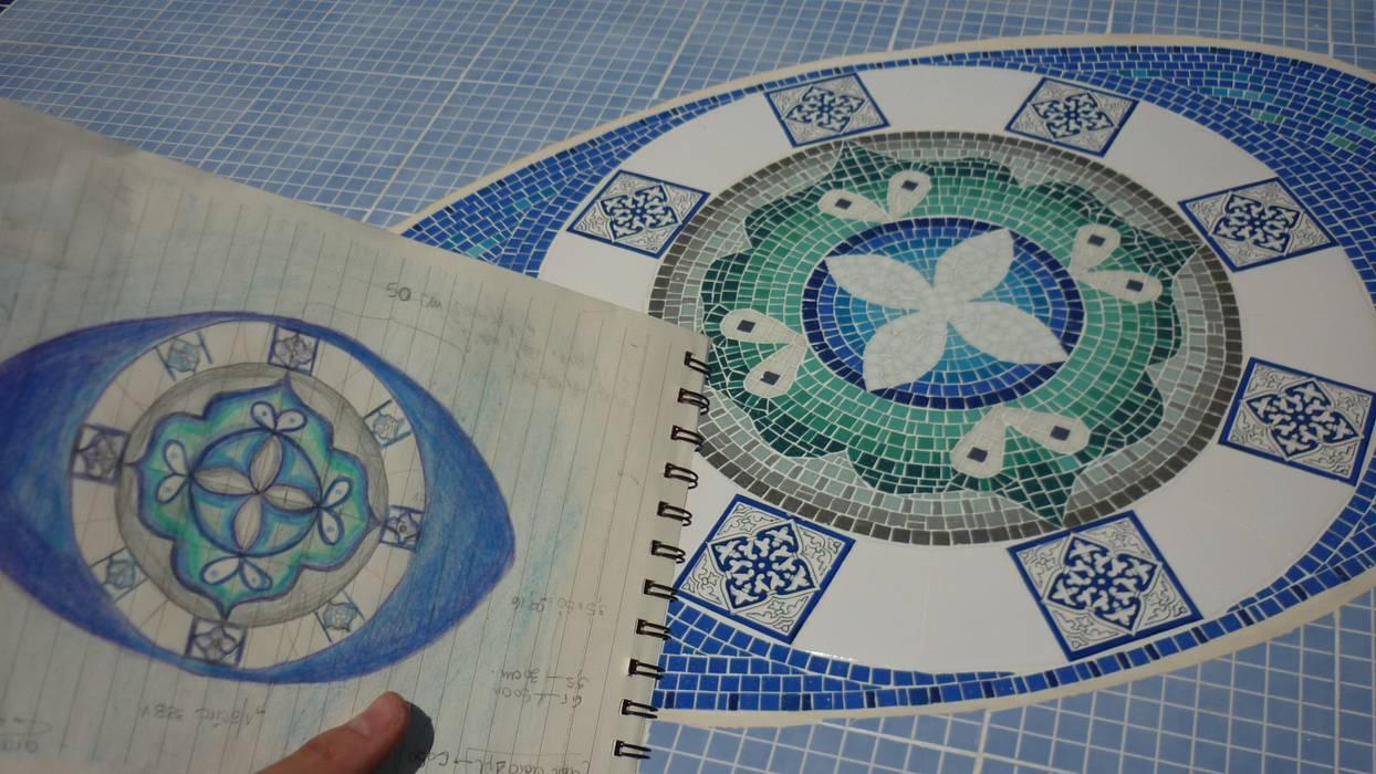 Mandala para fondo de piscina Piletas modernas: Ideas, imágenes y decoración de Mosa Y Quito Moderno
