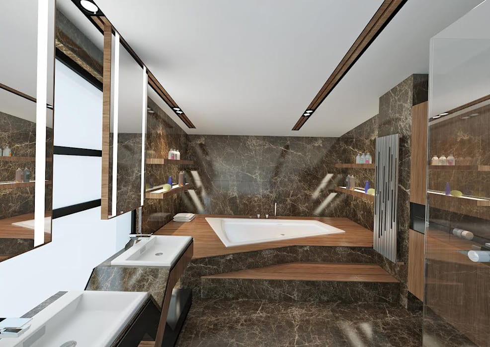 Ankara Villa Projesi Modern Banyo homify Modern