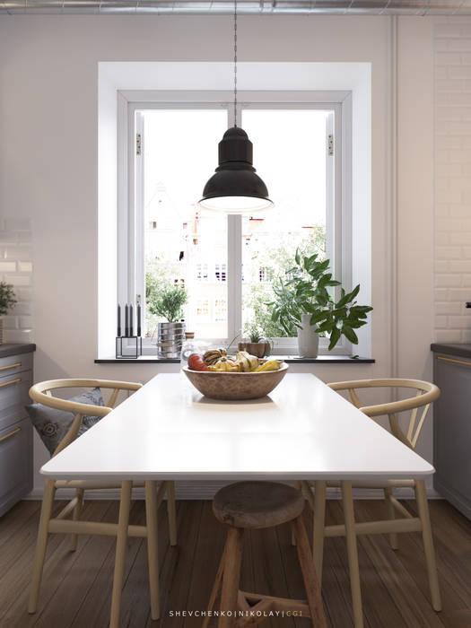 Shevchenko_Nikolay Scandinavian style kitchen
