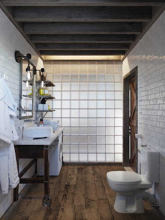 Industrial style bathroom by Anton Medvedev Interiors Industrial