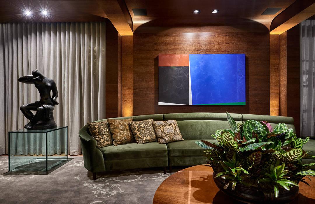 Sala Lounge: Salas de estar  por Gislene Lopes Arquitetura e Design de Interiores