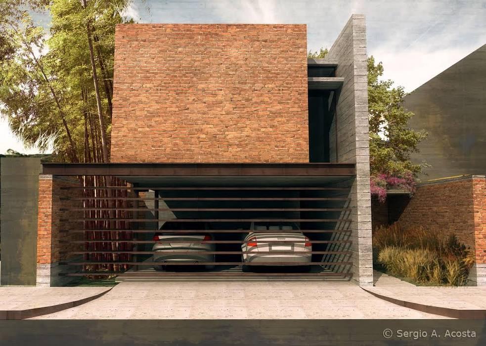 FACHADA Casas modernas de 75 Arquitectura Moderno Ladrillos