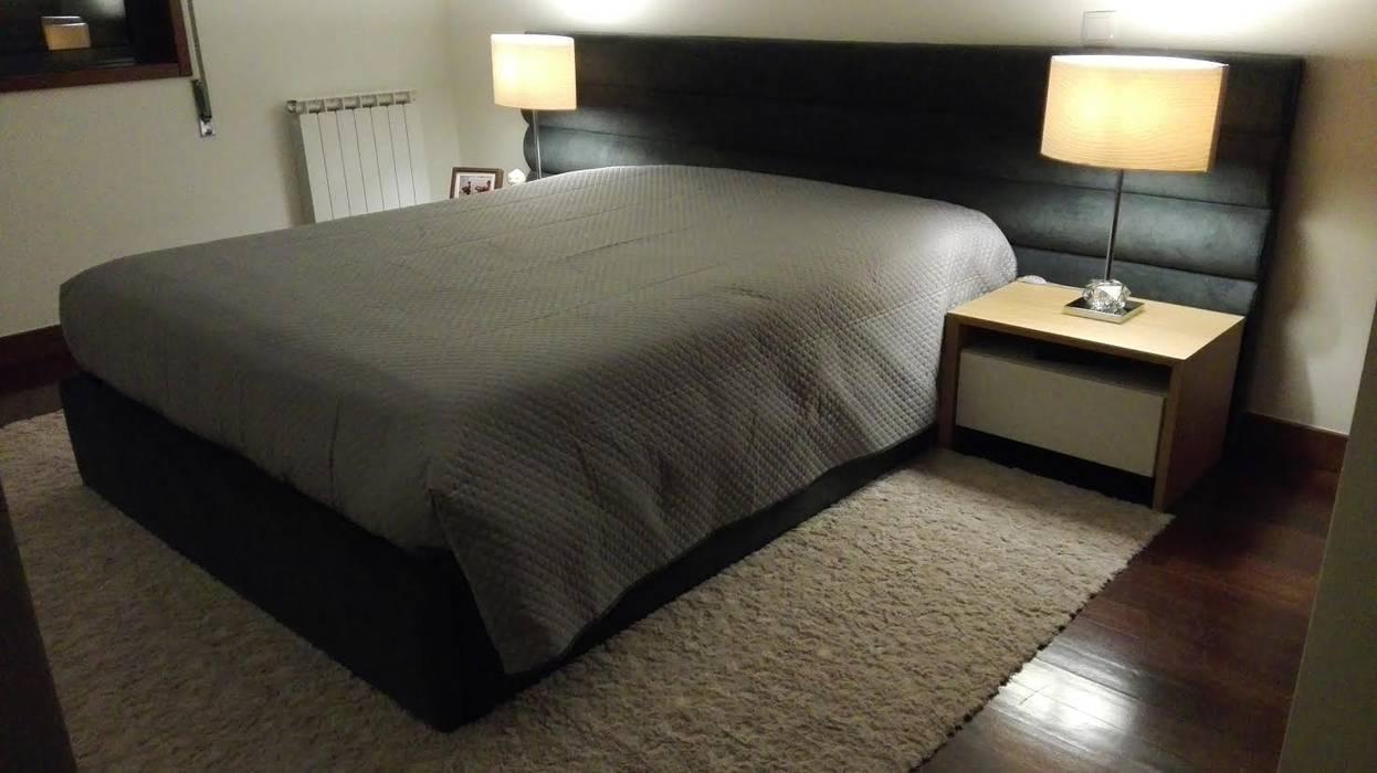 Conforto e Individualidade : Quartos  por Favos Comércio de móveis e artigos para decoração lda.,
