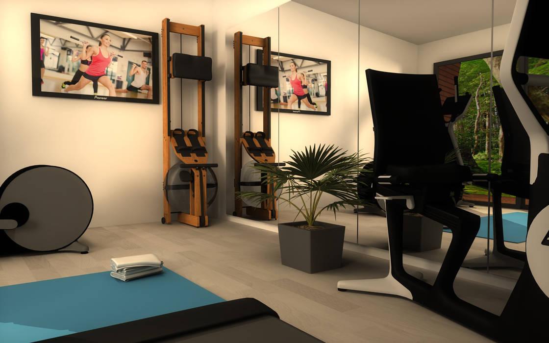 Le Fitness Cube: Salle de sport de style de style Moderne par Athletica Design