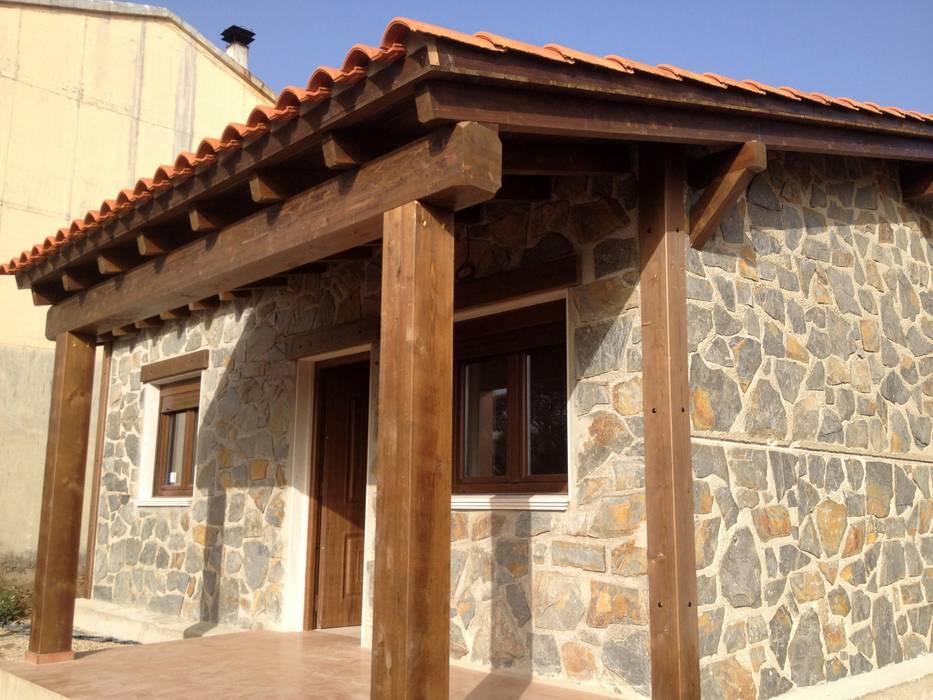 Casa Modular Rústica en Salamanca Casas de estilo rústico de MODULAR HOME Rústico