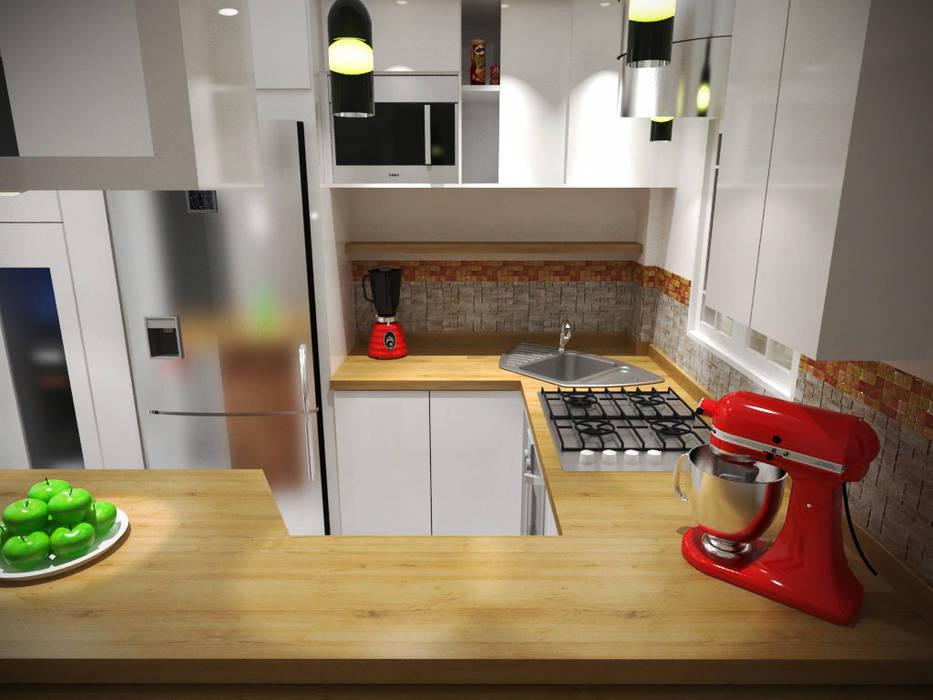 Diseño sala-cocina/comedor : cocinas de estilo por ...