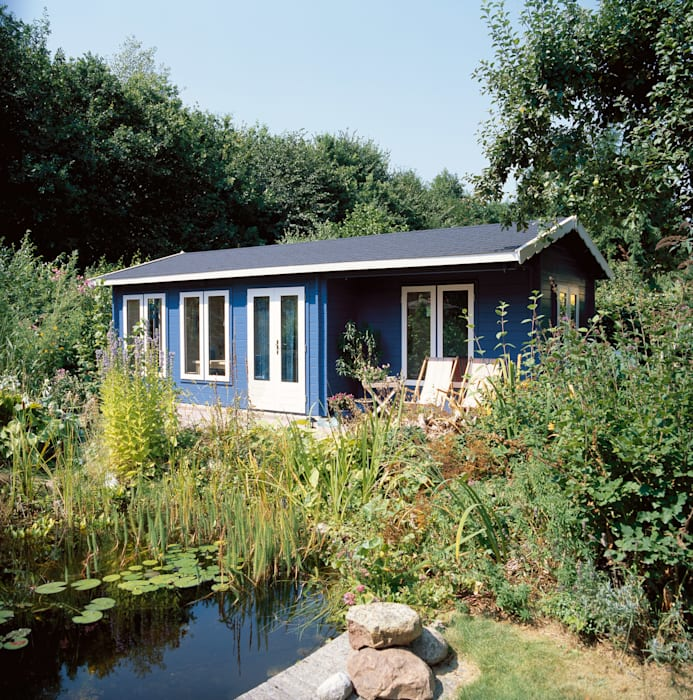 Garage/shed by Garden Affairs Ltd, Country Wood Wood effect
