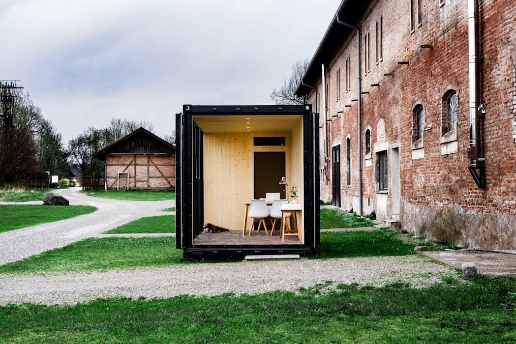 Hiloft - mobiler Wohnraum Moderne Häuser von Hiloft Modern Eisen/Stahl