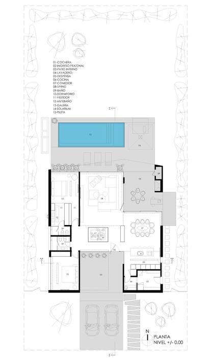 Minimalist houses by VISMARACORSI ARQUITECTOS Minimalist