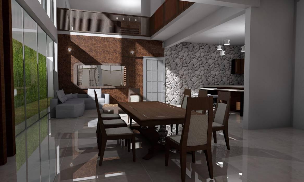 Casa Sin Rostro: Comedores de estilo  por ARQUITECTURA MB&A
