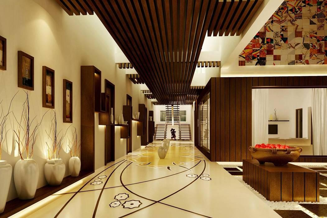 Pasillos, vestíbulos y escaleras de estilo moderno de Dwellion Moderno