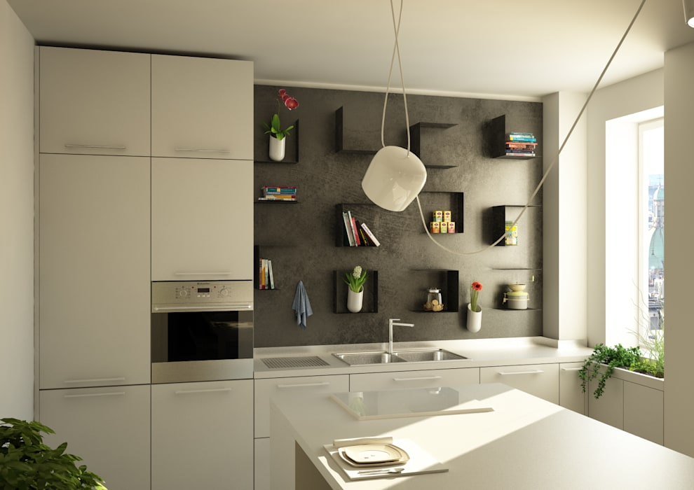 Cuisine moderne par CT home Moderne