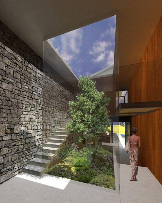 Amanali - RIMA Arquitectura: Pasillos y recibidores de estilo  por RIMA Arquitectura