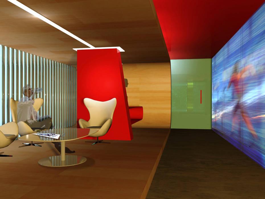 ห้องนั่งเล่น โดย RIMA Arquitectura, โมเดิร์น