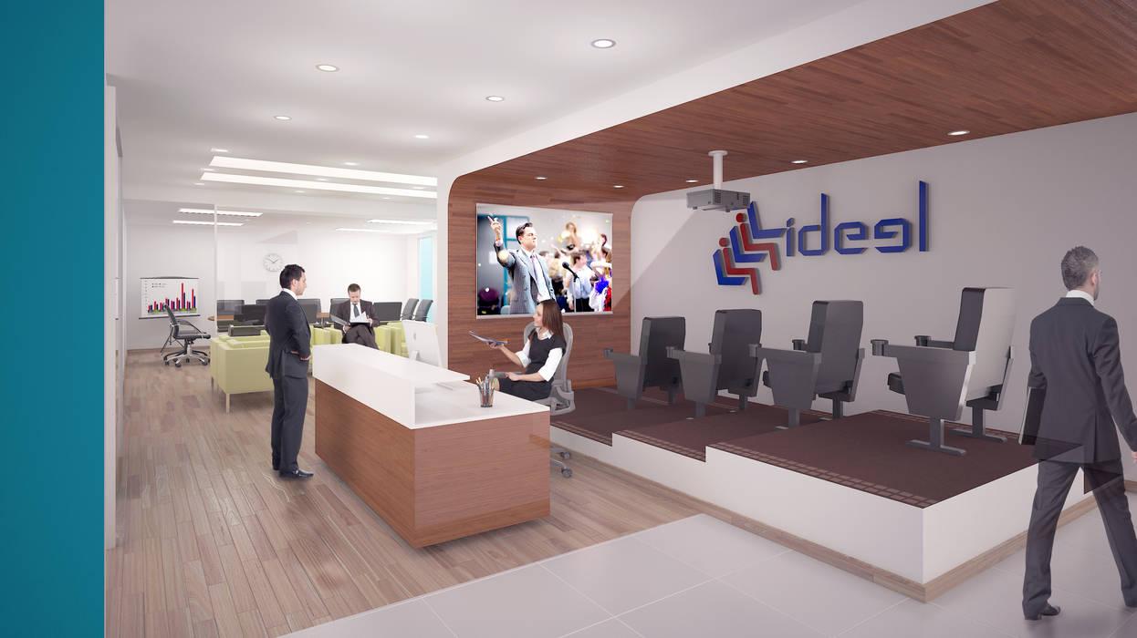 Recepción: Estudios y oficinas de estilo moderno por Ingenieros y Arquitectos Continentes