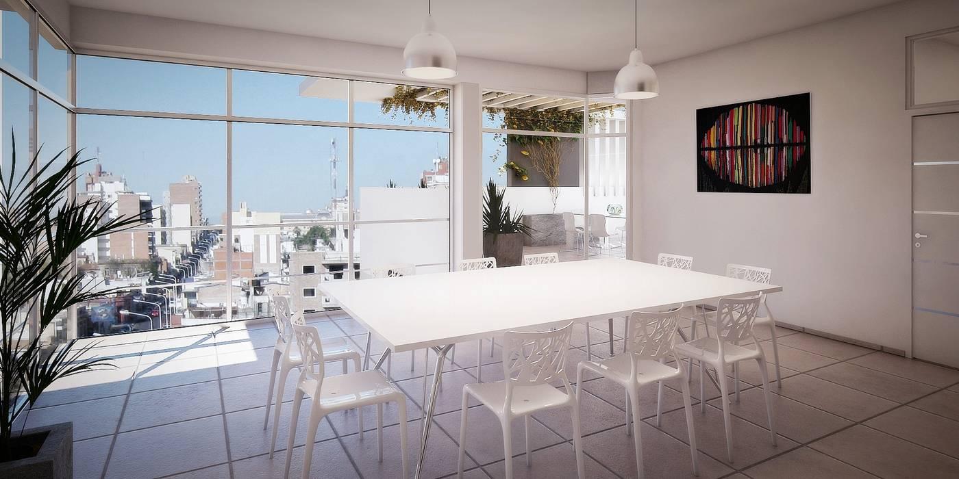 Quincho En Terraza Balcones Y Terrazas Modernos Ideas
