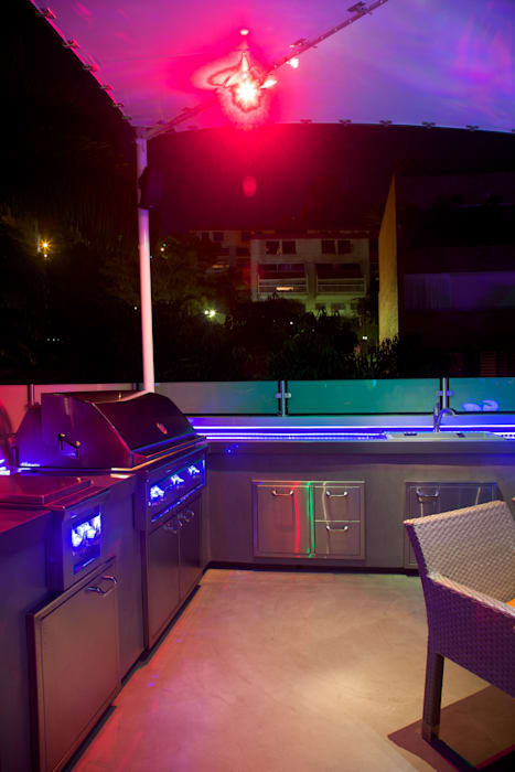 Terraza PH El Peñon: Terrazas de estilo  por Objetos DAC,