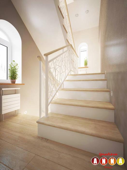 Corridor & hallway by Дизайн-студия Анны Игнатьевой