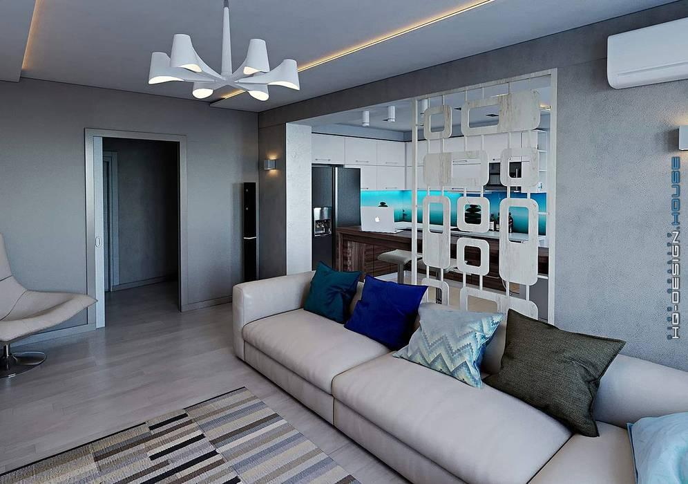 Salones modernos de hq-design Moderno