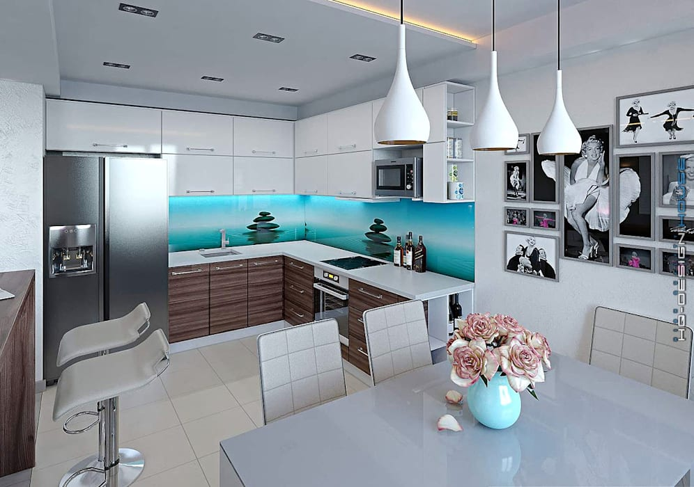 Cocinas de estilo moderno de hq-design Moderno