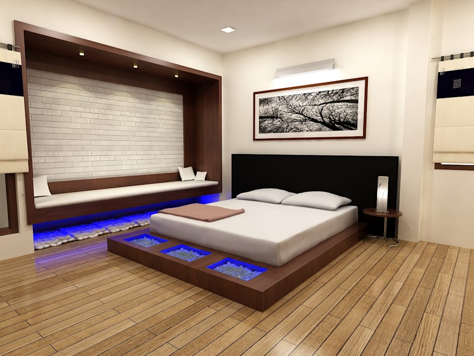 Chambre asiatique par Shadab Anwari & Associates. Asiatique