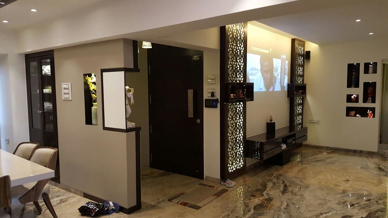 projection area Modern media room by NCA naresh chandwani & associates Modern MDF