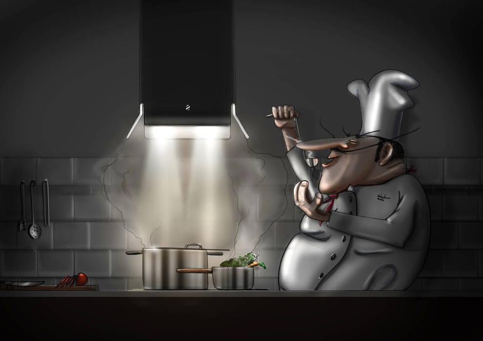 """""""Sale & Pepe"""" di Francesco Meneghello e Davide Lanfranco: Cucina in stile in stile Minimalista di CRISTALPLANT"""