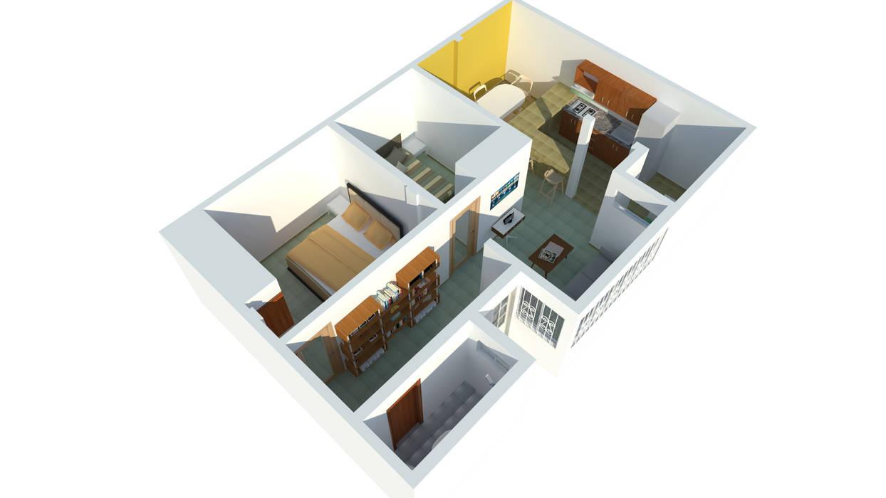 Perspectiva Casas modernas de Ingenieros y Arquitectos Continentes Moderno