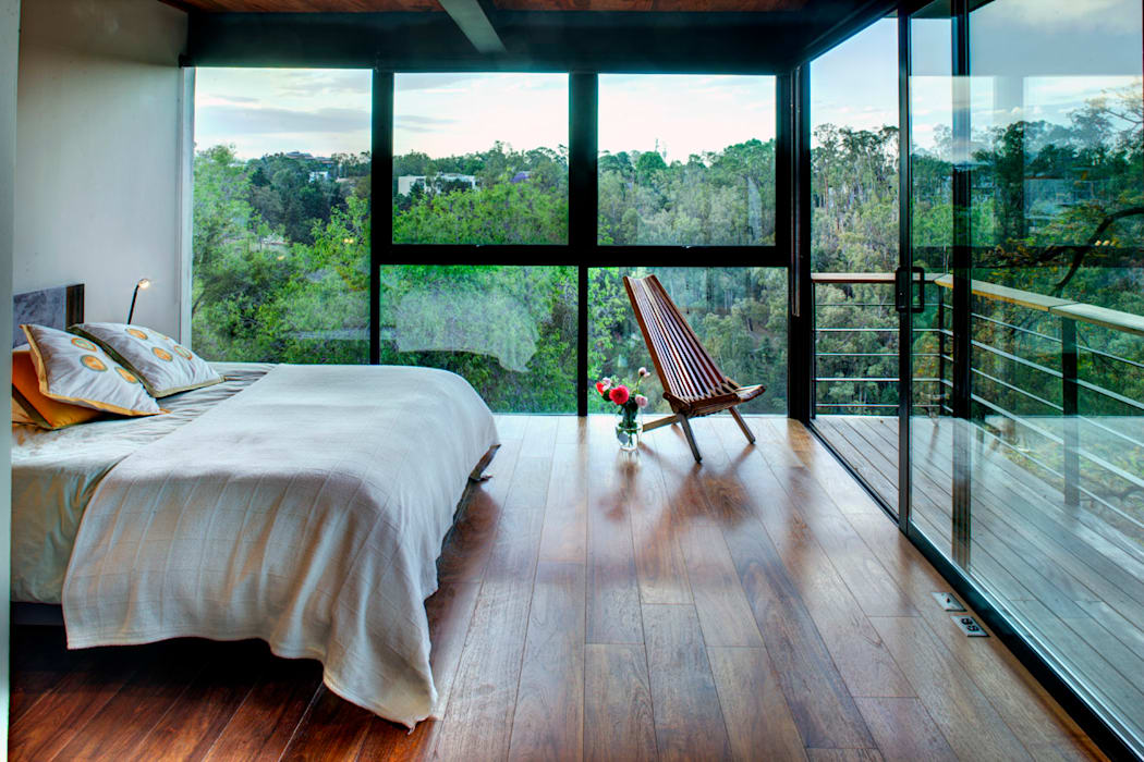 Kamar Tidur Modern Oleh RIMA Arquitectura Modern Kayu Wood effect