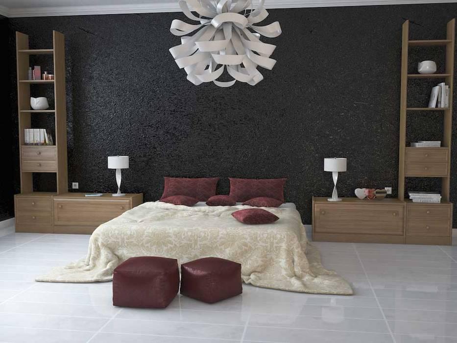Modello salotto 3D+ Render: Camera da letto in stile in stile Moderno di W & E srl