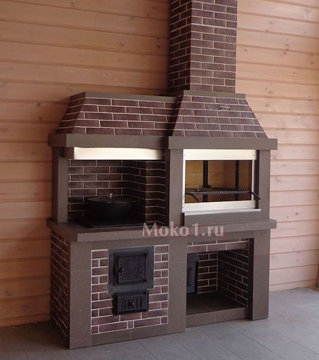 класичний  by Moko barbecue, Класичний Цегла