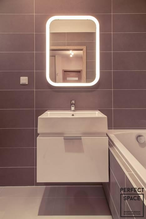 Przytulne Gniazdko Minimalistyczna łazienka od Perfect Space Minimalistyczny